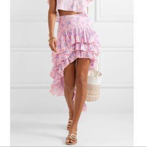 LoveShackFancy Elle Tiered Floral Skirt